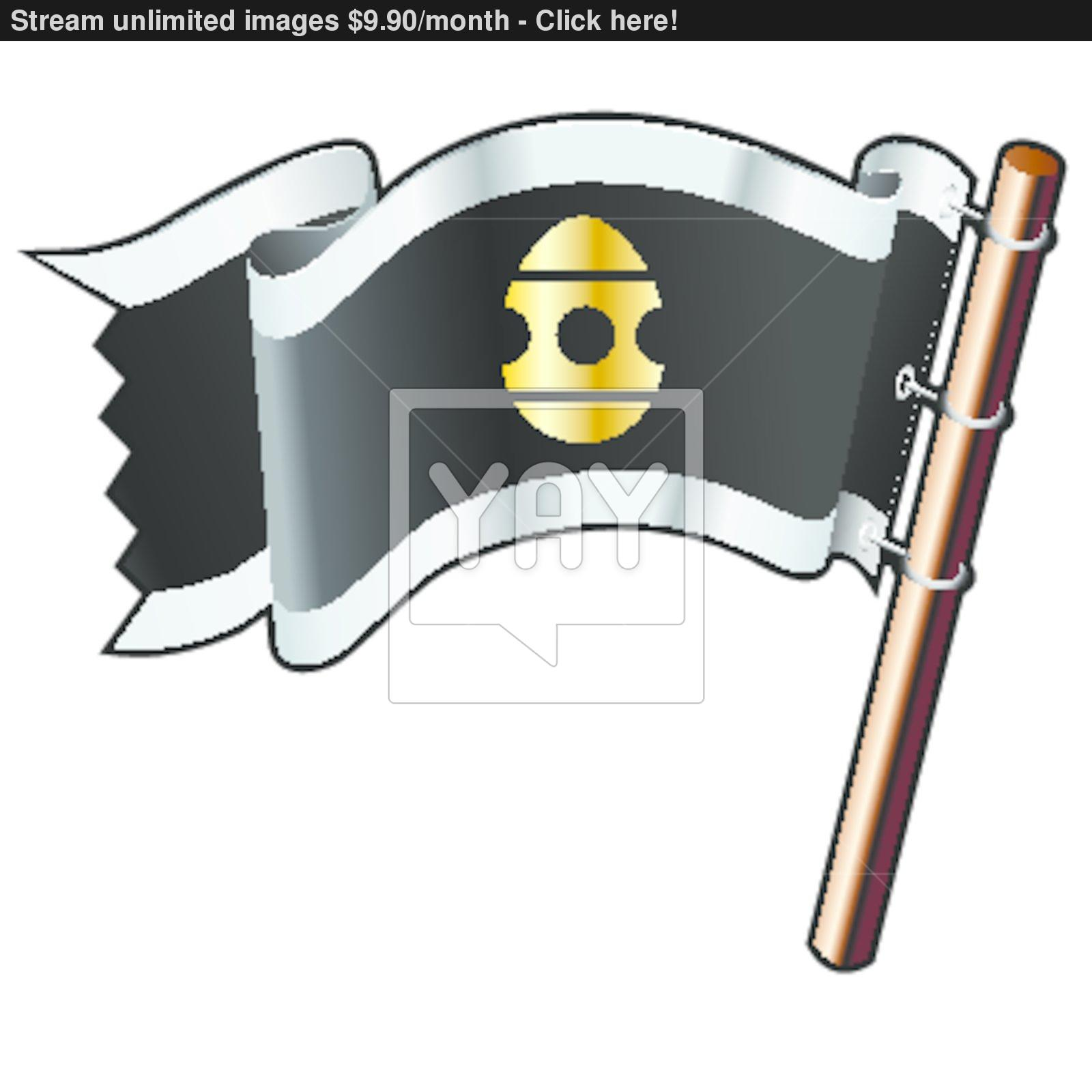 Pirate easter egg clipart jpg library Easter egg pirate flag vector | YayImages.com jpg library