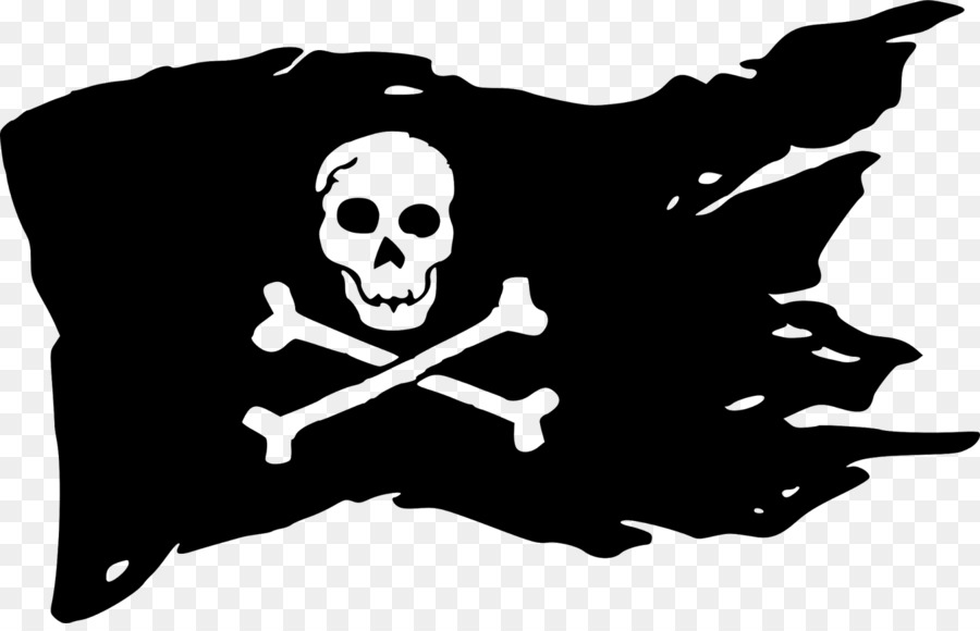 Pirate flag clipart black and white image library Skull And Crossbones png download - 1600*1019 - Free ... image library