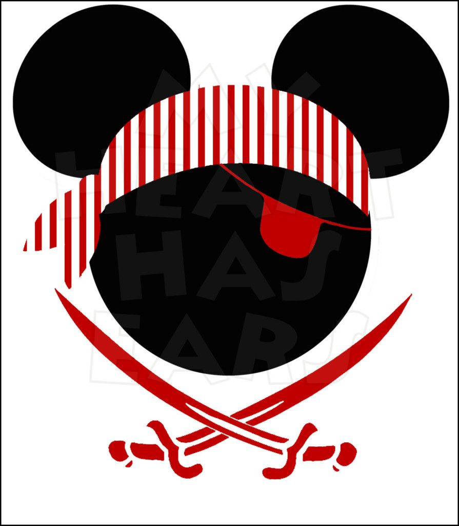 Pirate mickey clipart clip free Mickey Mouse Pirate Head INSTANT DOWNLOAD digital clip art ... clip free