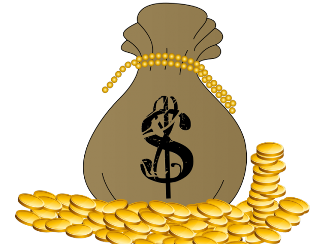 Pirate money clipart