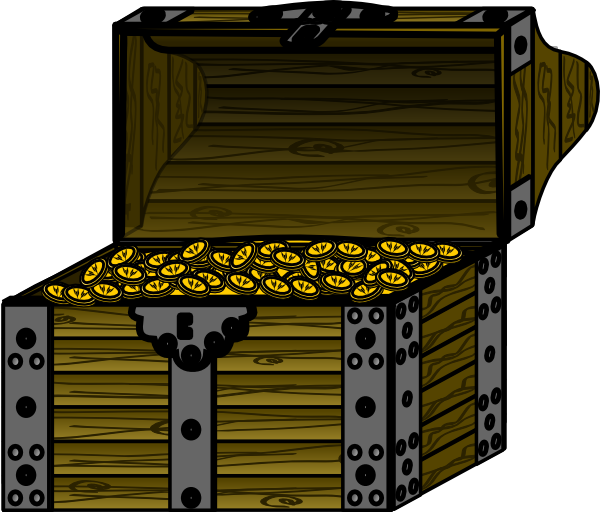 Pirate money clipart picture download Pirate Treasure Chest With Coins Clip Art at Clker.com - vector clip ... picture download