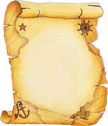 Pirate scroll clipart clip art transparent download Collection : Parchemins | Морская тема в декупаже | Cartes ... clip art transparent download