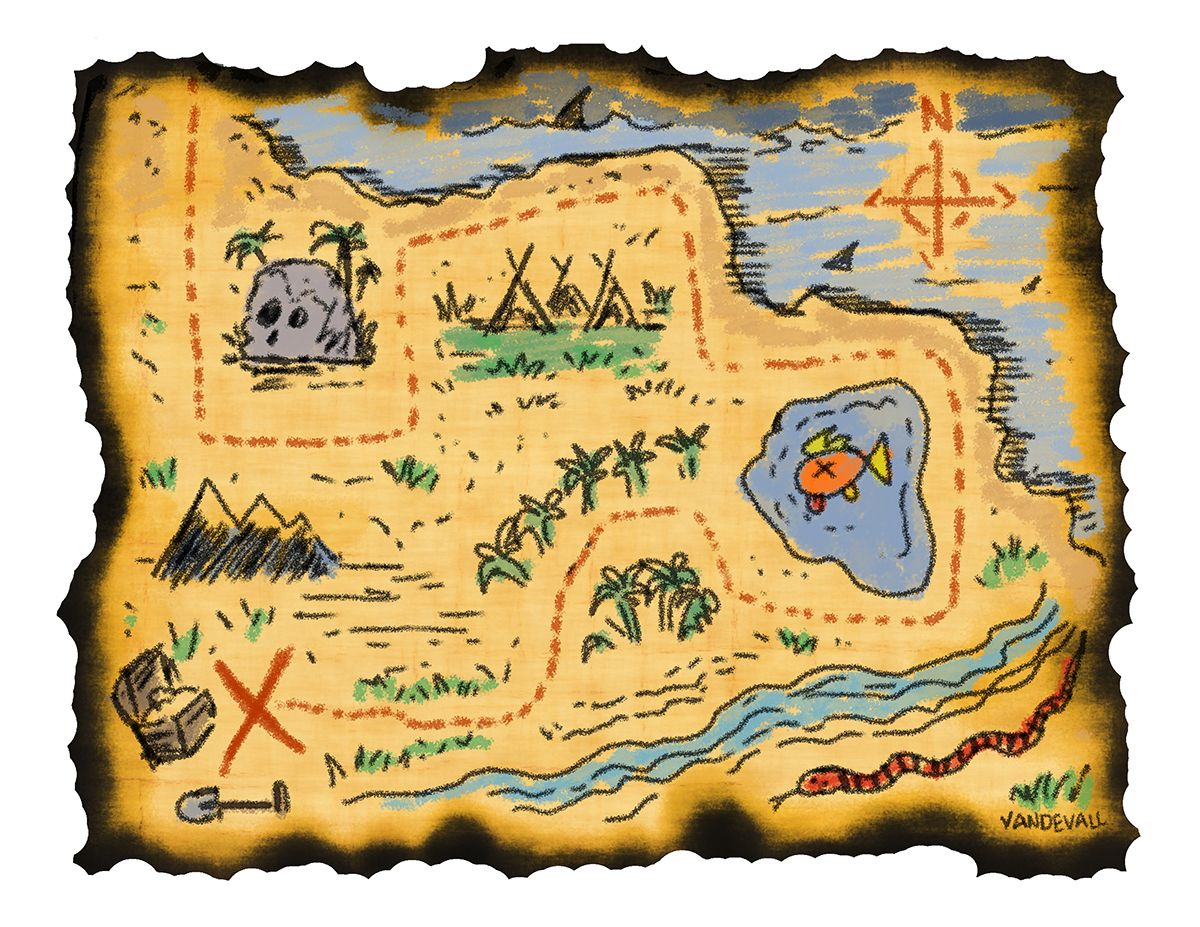 Pirate scroll clipart clipart printable treasure maps for kids | Kidding Around | Treasure ... clipart