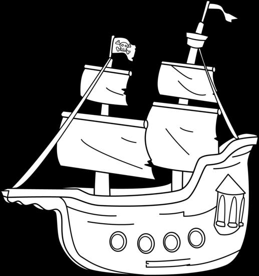Pirate ship clipart black and white clip art freeuse Boat black and white boat pirate ship clipart black and ... clip art freeuse