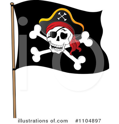 Pirate ship flag clipart clipart freeuse Pirate Flag Clipart #1104898 - Illustration by visekart clipart freeuse