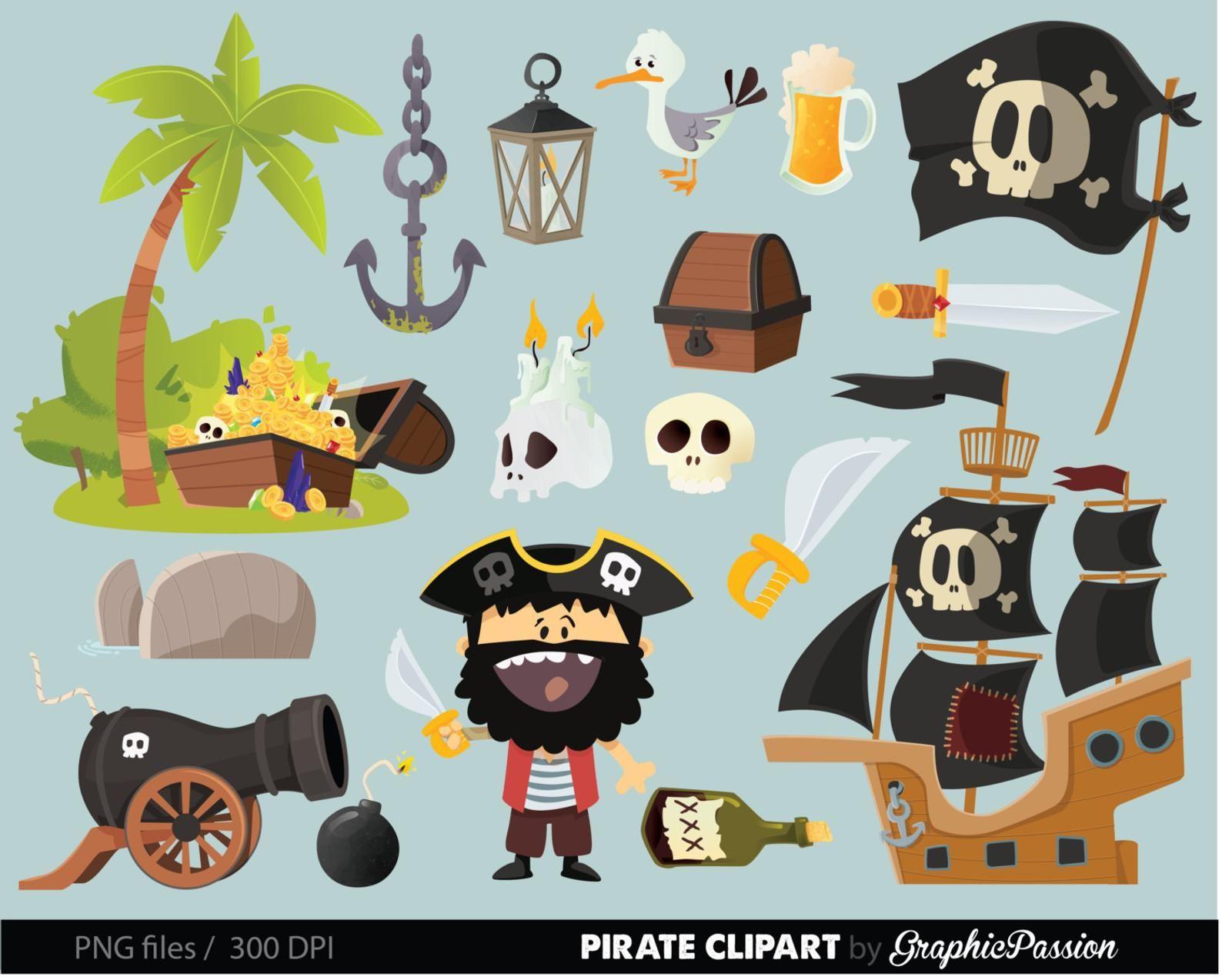 Pirate ship flag clipart clip transparent Pirate clip art Pirate ship clipart Treasure Nautical Anchor ... clip transparent