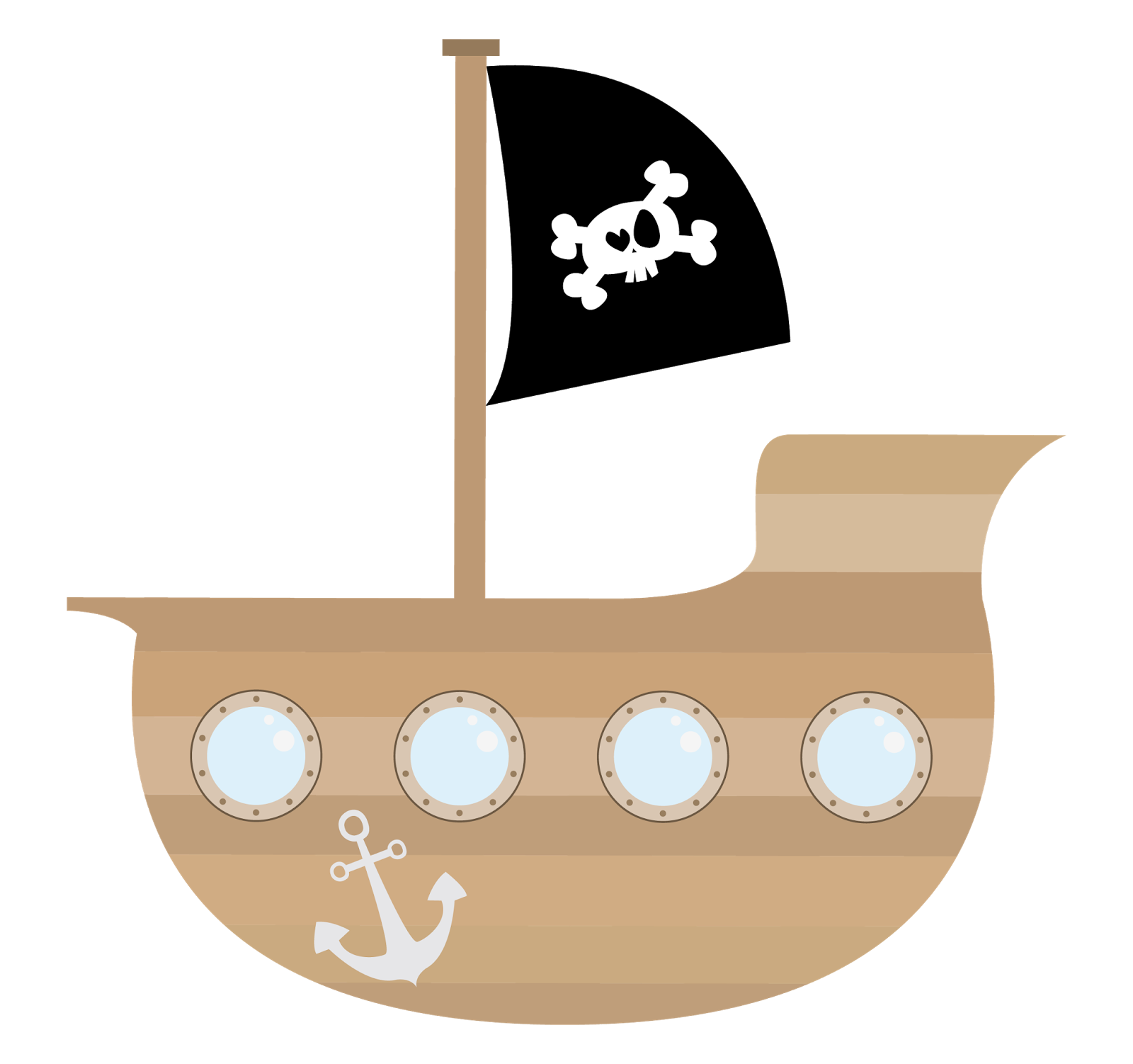 Turkey on a boat clipart svg library stock Pirate Ship Clipart - Clipart Kid | story | Pinterest | Pirate ships ... svg library stock