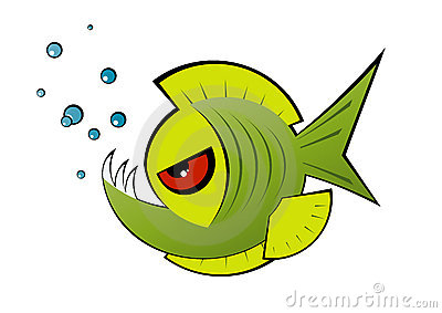 Pirrana clipart clip library Angry green cartoon piranha | Clipart Panda - Free Clipart ... clip library