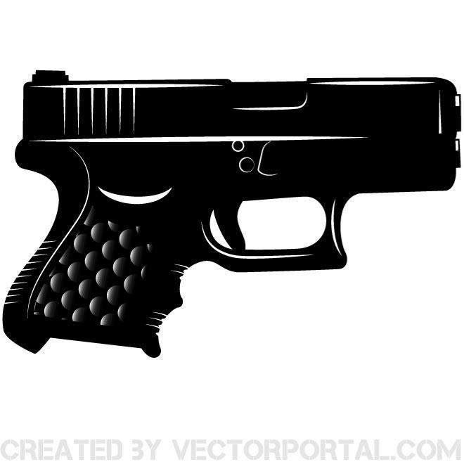 Pistol clipart black and white clip art royalty free stock PISTOL VECTOR CLIP ART IMAGE - Free vector image in AI and ... clip art royalty free stock