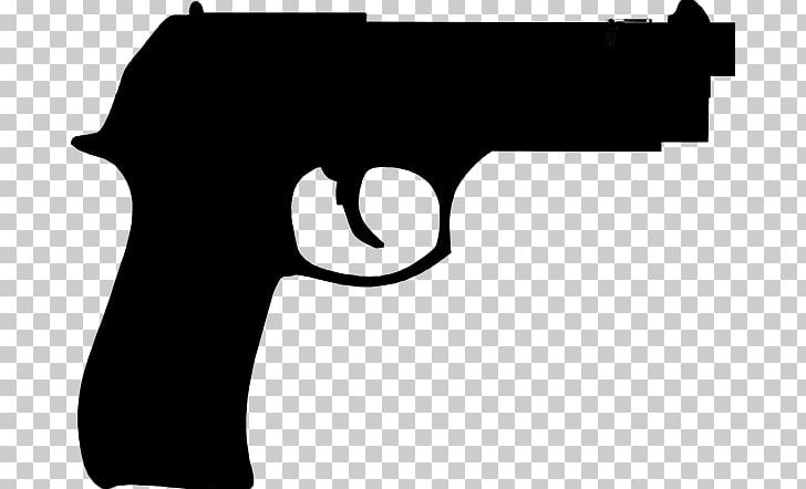 Pistol clipart black and white svg library stock Firearm Pistol Rifle Cartoon PNG, Clipart, Black, Black And ... svg library stock