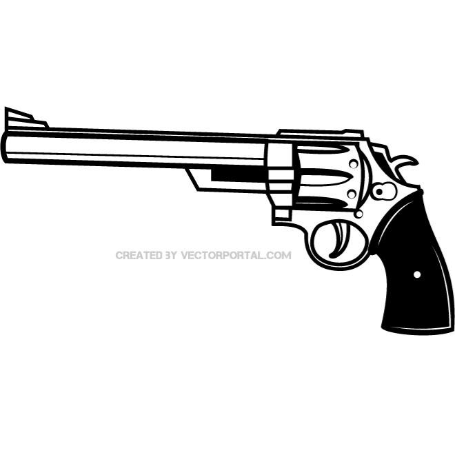 Pistol clipart black and white svg transparent download FIREARM VECTOR CLIP ART - Free vector image in AI and EPS ... svg transparent download
