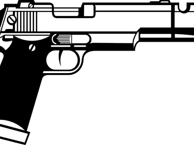 Pistol clipart black and white vector freeuse Free Pistol Clipart, Download Free Clip Art on Owips.com vector freeuse