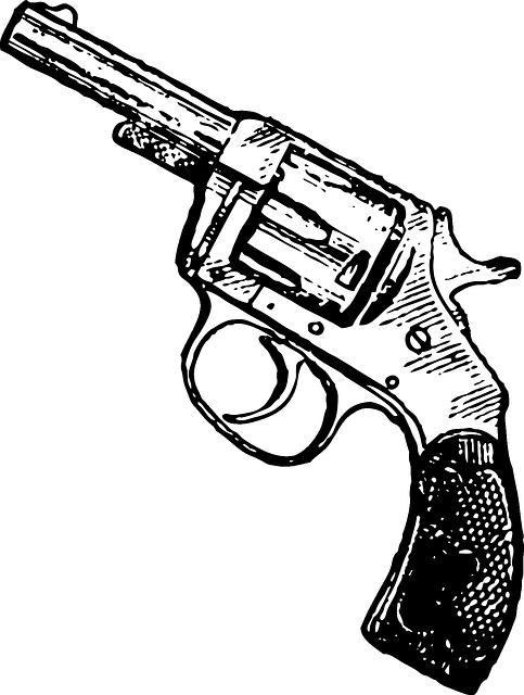 Revolver cross clipart image black and white library Free Image on Pixabay - Gun, Revolver, Pistol, Weapon | Pinterest ... image black and white library