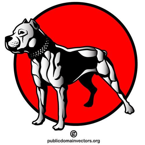 Pit bull dog clipart image freeuse Pit bull dog vector clip art | Public domain vectors image freeuse