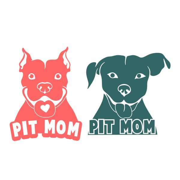 Pitbull mom clipart image free download Pit Bull Mom Dog Cuttable Design image free download