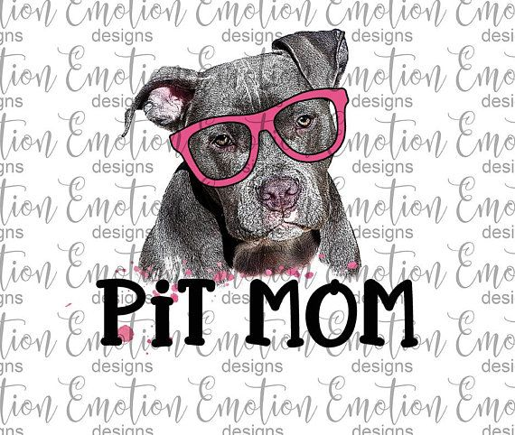Pitbull mom clipart jpg free library Pit Mom, Pitbull Mom PNG, instant download, Sublimation ... jpg free library