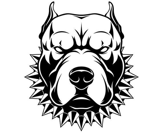 Pittbull clipart jpg library Pitbull, Pit bull terrier, Dog, Cartoon, SVG,Graphics ... jpg library