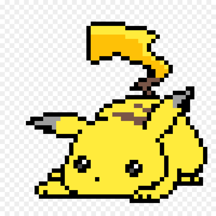 Pixe clipart picture black and white library Pixel Art Pikachu clipart - Pixel, Yellow, Line, transparent ... picture black and white library