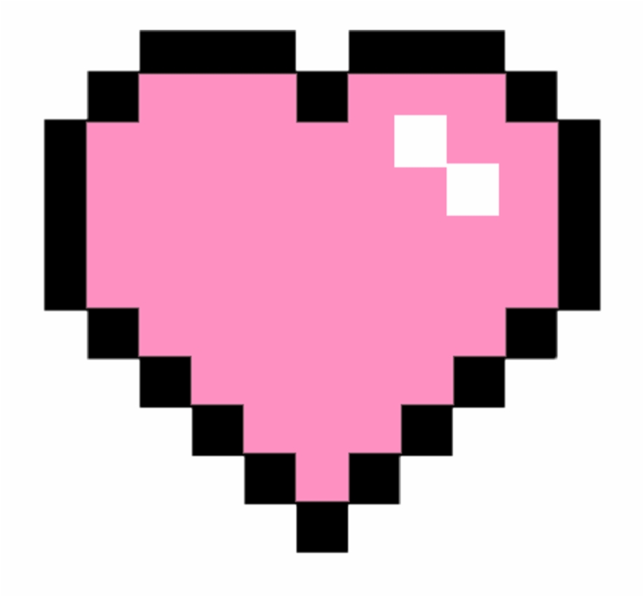 Pixe clipart vector library Pixel Clipart Pink - Pixel Heart Png Transparent Free PNG ... vector library