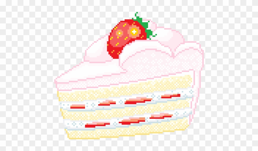 Pixel clipart kawaii graphic library stock Kawaii Pixel Cake Clipart (#2159611) - PinClipart graphic library stock