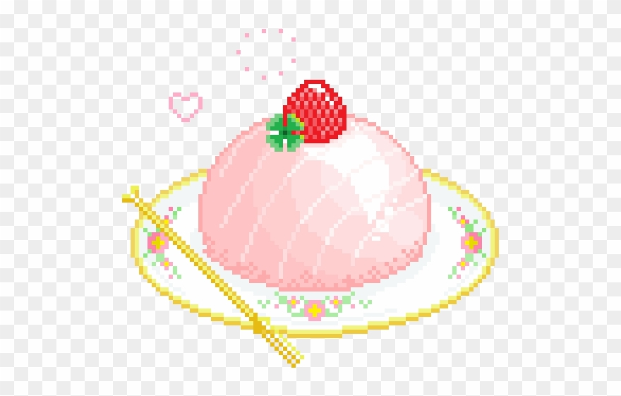 Pixel clipart kawaii picture freeuse library Pixel Gif - Kawaii Pixel Food Transparent Clipart (#2167200 ... picture freeuse library