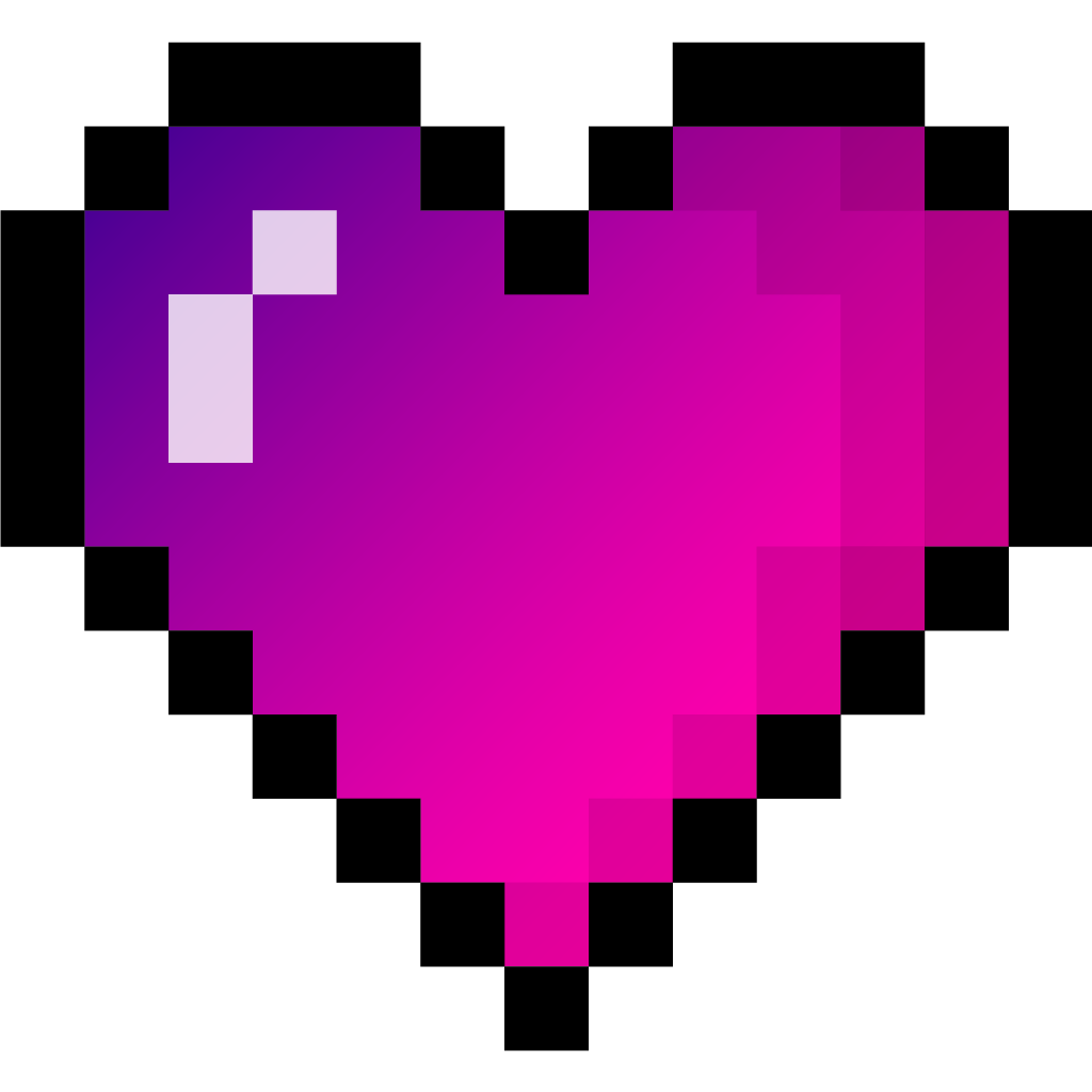 Pixel heart clipart picture freeuse library gradient pixel heart pixelheart gradientheart gradientp... picture freeuse library