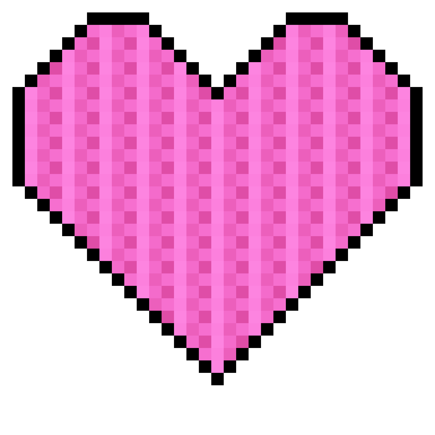Pixel heart clipart transparent download Pixel Art Heart Clipart transparent download
