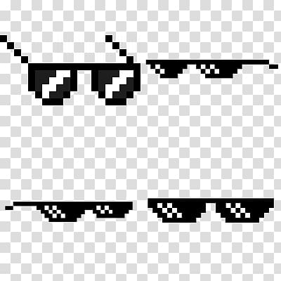 Pixel sunglasses clipart banner royalty free Four pixel sunglasses , Thug Life , Thug Life transparent ... banner royalty free