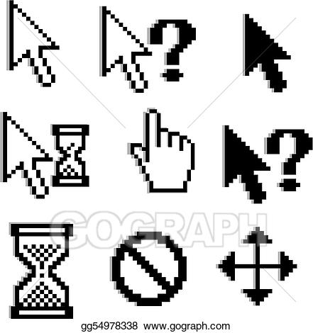 Pixelated clipart clipart transparent stock Vector Stock - Pixelated graphics. Clipart Illustration ... clipart transparent stock