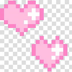 Pixelated clipart clip royalty free download PASTEL PIXELS IV, two heart pink pixelated transparent ... clip royalty free download