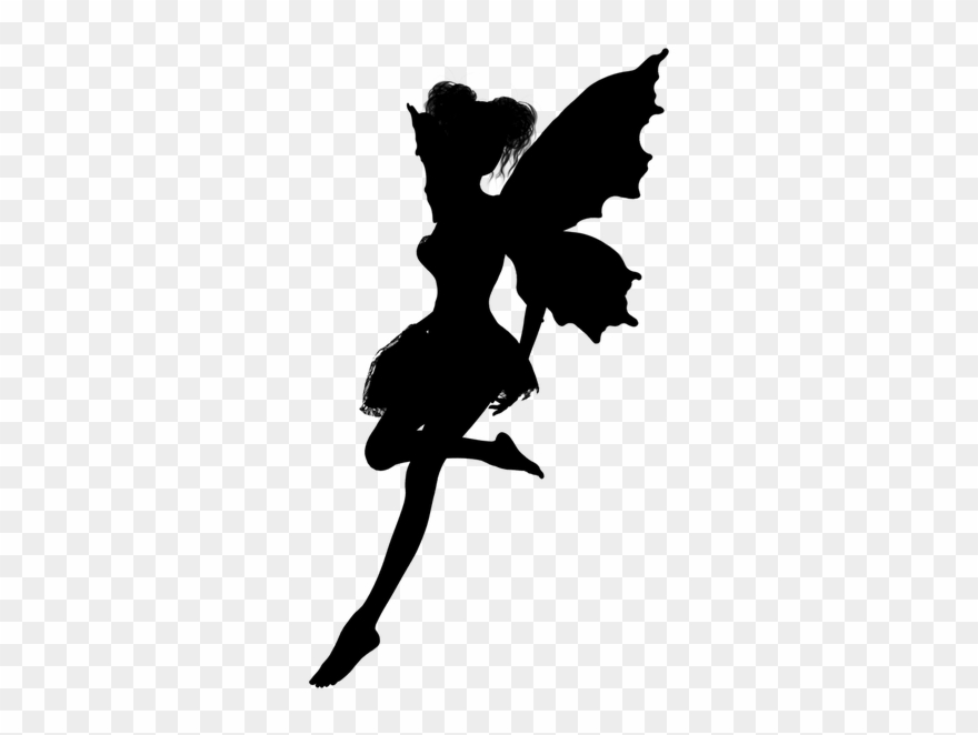 Pixie images clipart clip black and white library Fairy24 Fairy Silhouettes - Pixie Fairy Silhouette Clipart ... clip black and white library
