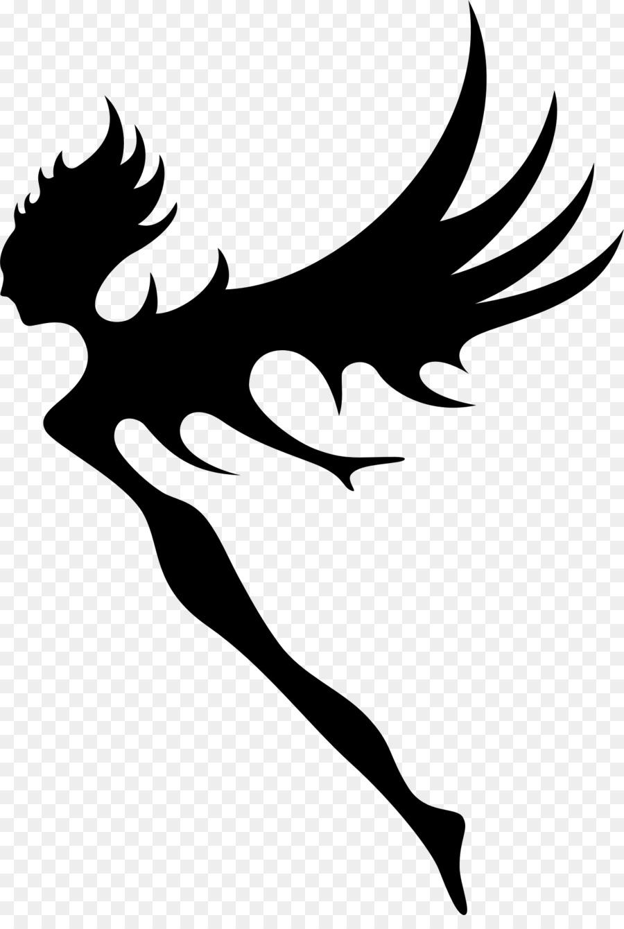 Pixie silhouette clipart banner library library Elf Cartoon clipart - Fairy, Hand, Bird, transparent clip art banner library library