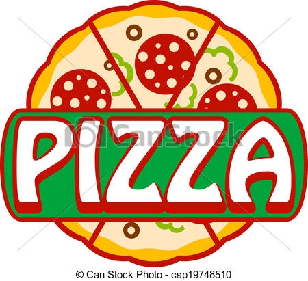 Pizza artwork clipart picture freeuse library Vector Clip Art of Pizza banner, icon or sign with the word ... picture freeuse library