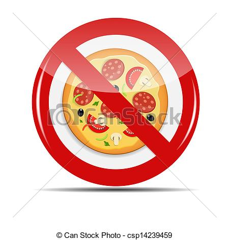 Pizza artwork clipart clip transparent library Clipart Vector of No Pizza sign vector illustration csp14239459 ... clip transparent library