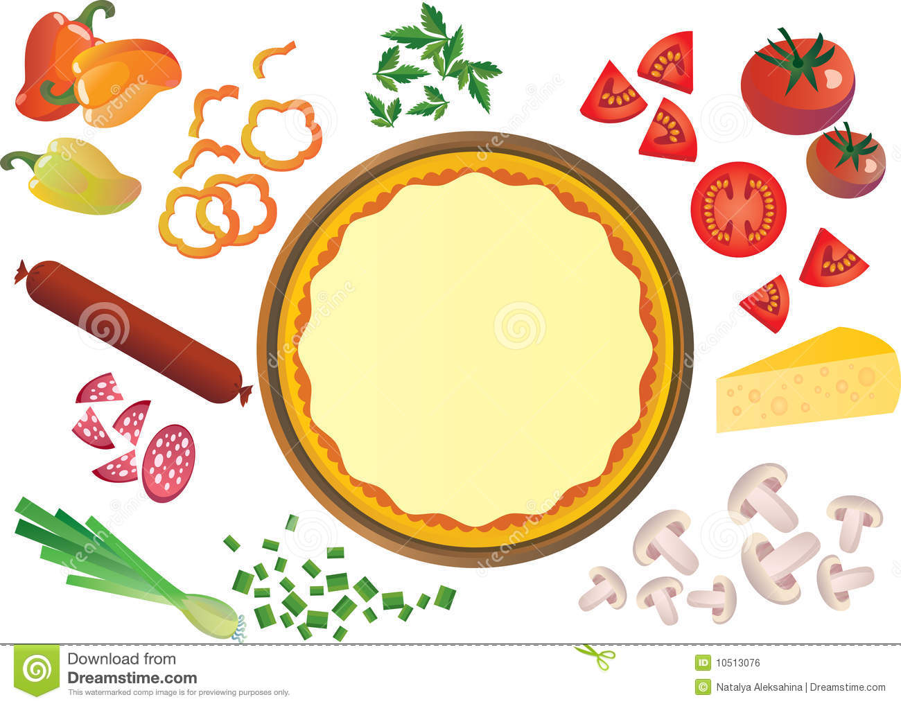 Pizza base clipart royalty free library 50+ Pizza Toppings Clipart | ClipartLook royalty free library