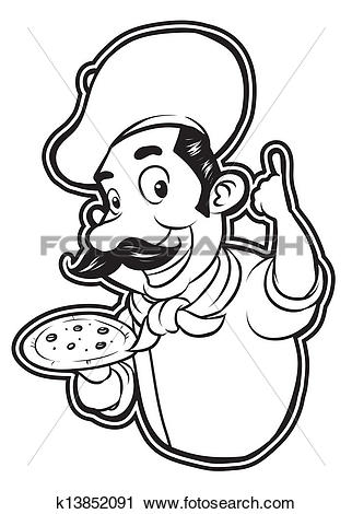Pizza chef clipart jpg library stock Pizza chef Clip Art Royalty Free. 2,691 pizza chef clipart vector ... jpg library stock