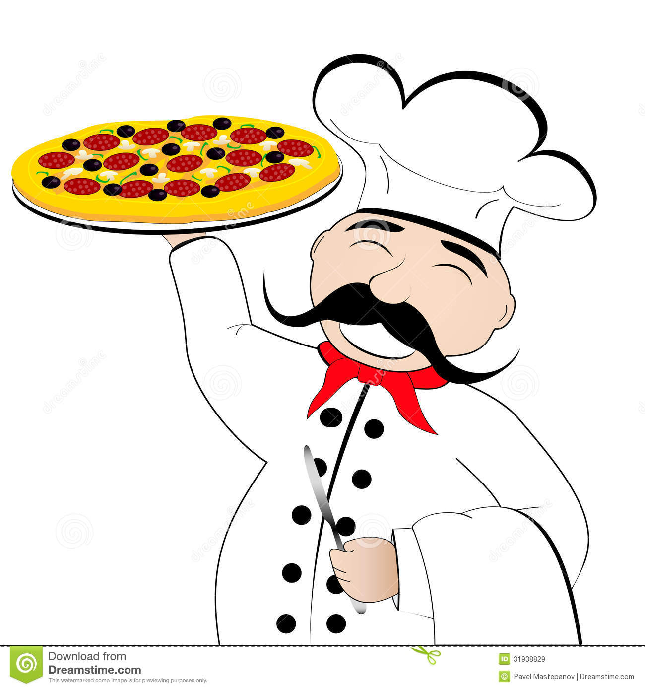 Pizza chef clipart vector royalty free stock Pizza Chef Clipart - Clipart Kid vector royalty free stock