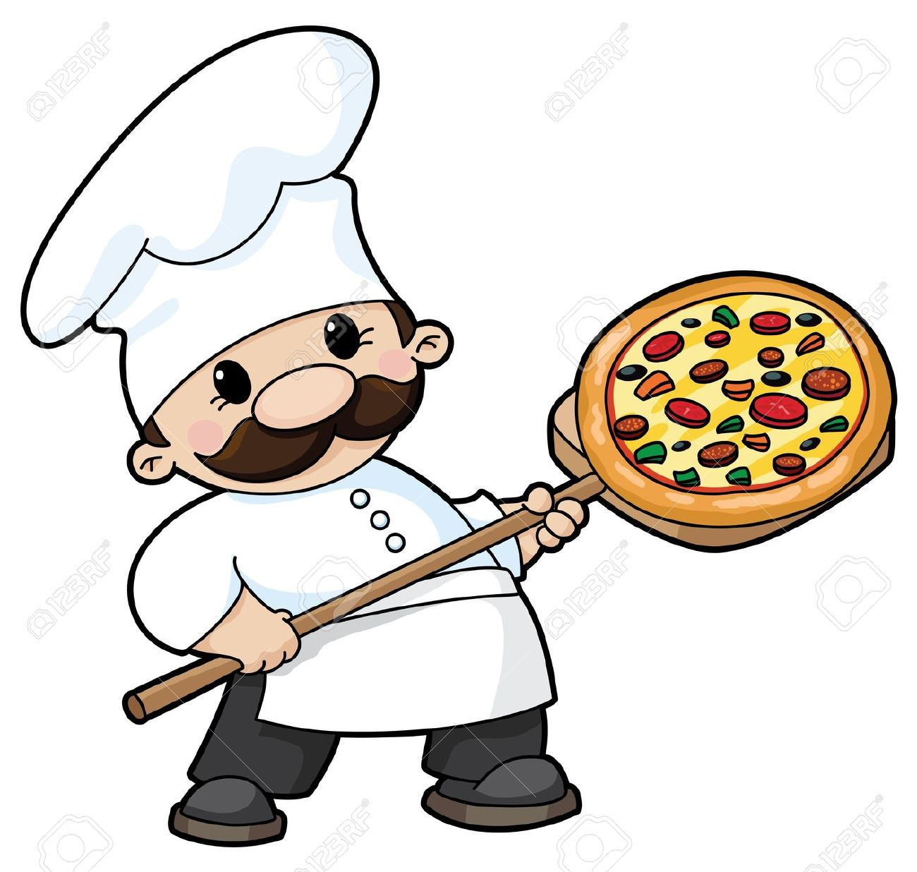 Pizza chef clipart vector royalty free stock Clipart pizza chef - ClipartFest vector royalty free stock
