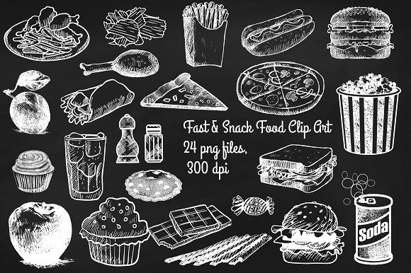 Pizza clipart chalk clip transparent stock CHALK PIZZA CLIP ART ~ Creative Daddy clip transparent stock