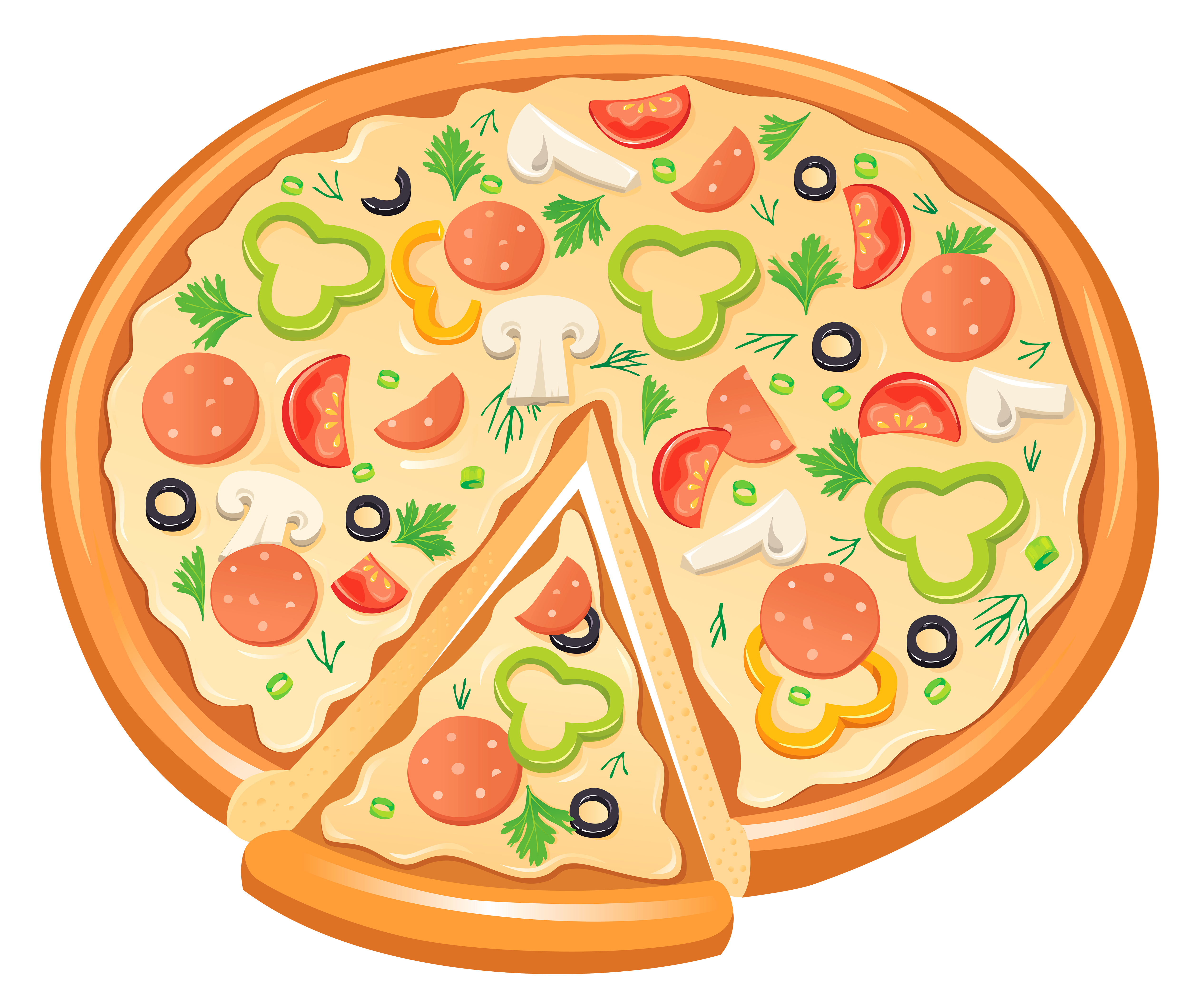 Pizza clipart png image black and white stock Pizza bagel Delicatessen Clip art - Pizza PNG Clipart png ... image black and white stock