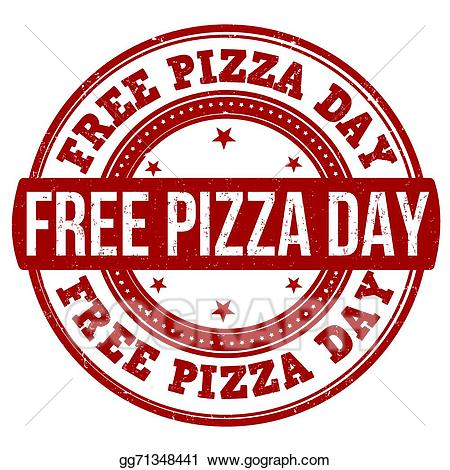 Pizza day clipart graphic transparent download EPS Illustration - Free pizza day stamp. Vector Clipart ... graphic transparent download