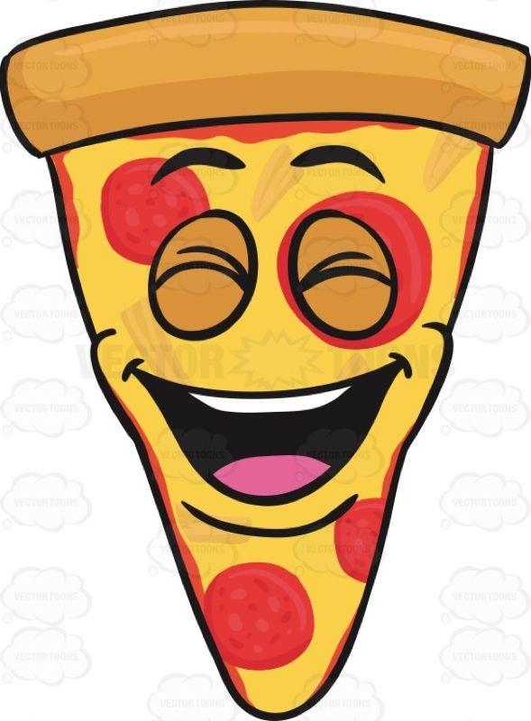 Pizza emoji clipart clip art free library Laughing Slice Of Pepperoni Pizza Emoji #americanpizza ... clip art free library