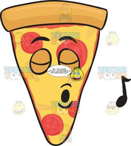 Pizza emoji clipart picture free download Slice Of Pepperoni Pizza Singing With Pleasure Emoji picture free download