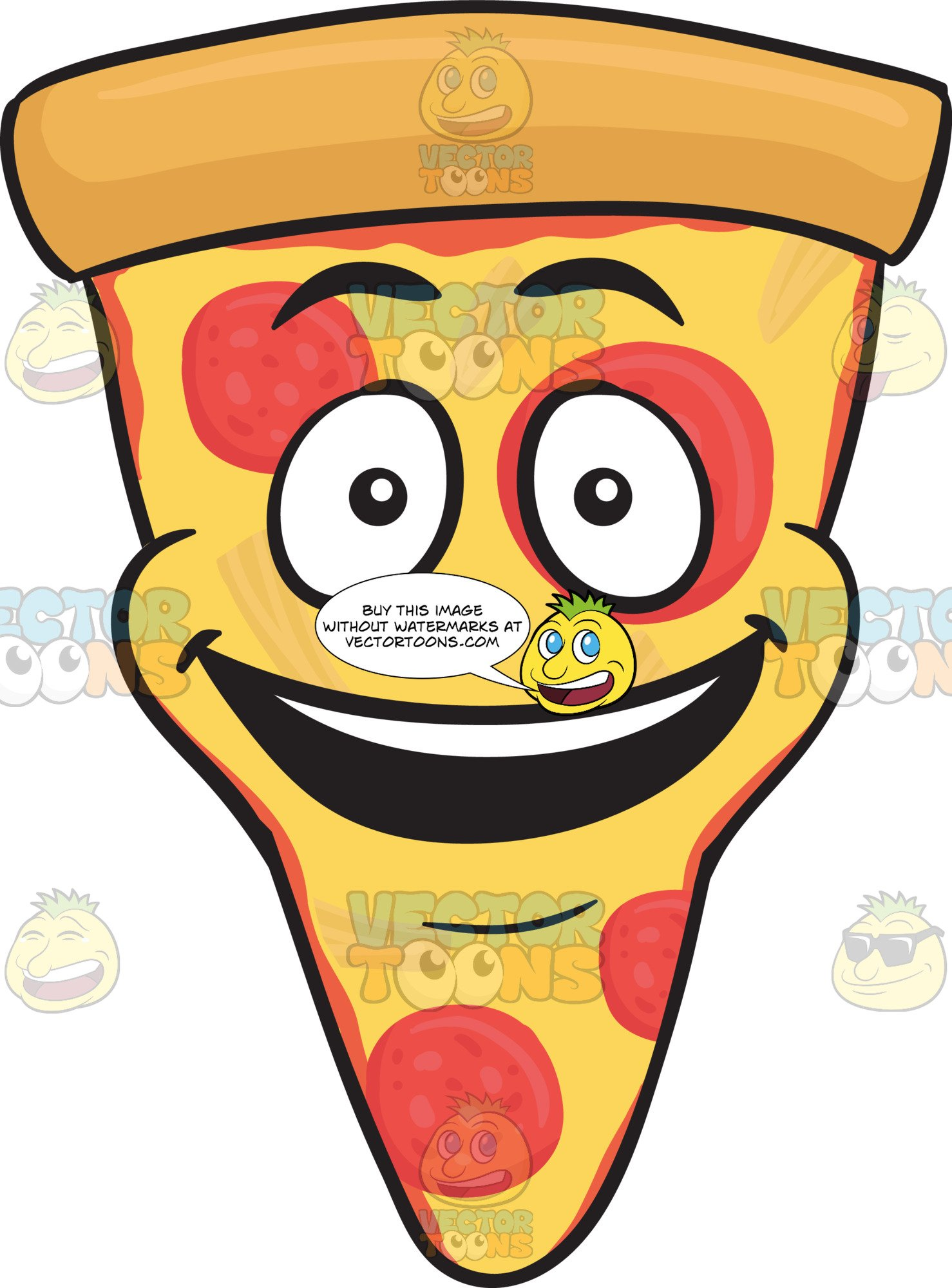 Pizza emoji clipart svg black and white download Slice Of Pepperoni Pizza With A Bright Look On Face Emoji svg black and white download
