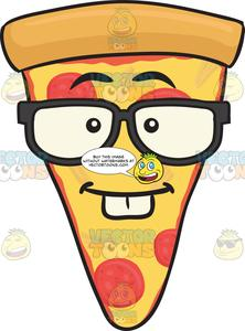 Pizza emoji clipart picture black and white stock Nerd Looking Slice Of Pepperoni Pizza Wearing Eyeglasses Emoji picture black and white stock