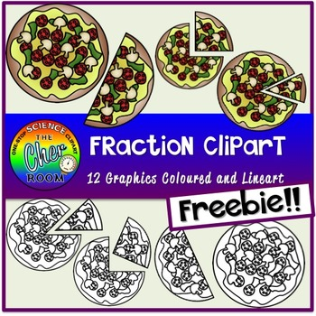 Pizza fractions clipart clip free stock [FREEBIE] Pizza Fraction Clipart clip free stock
