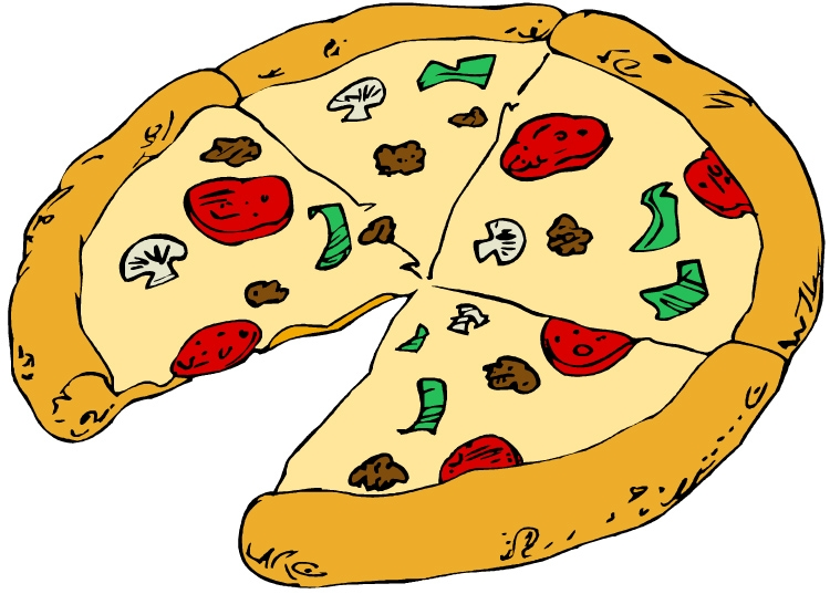 Pizza fractions clipart png black and white stock Pizza Fractions Clipart - Clip Art Library png black and white stock