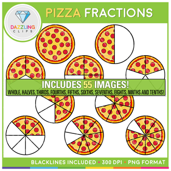 Pizza fractions clipart png royalty free Pizza Fractions Clipart png royalty free