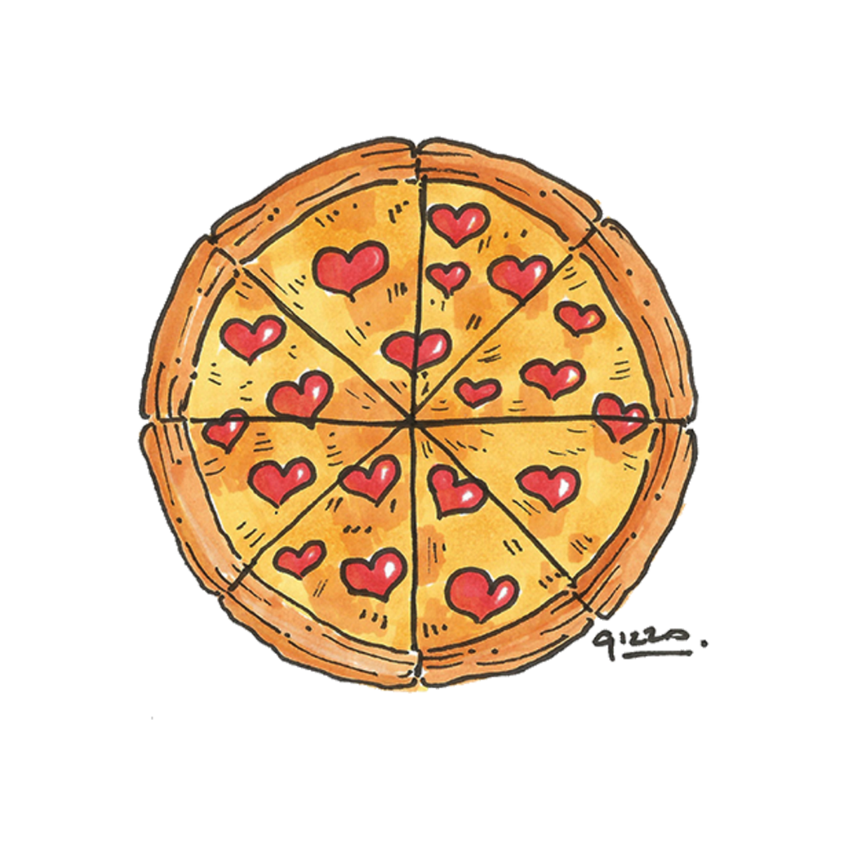 Pizza hut book it dragon clipart graphic royalty free library Pizza love - Illustration for Valentine's on Behance | NYP_Ideas ... graphic royalty free library
