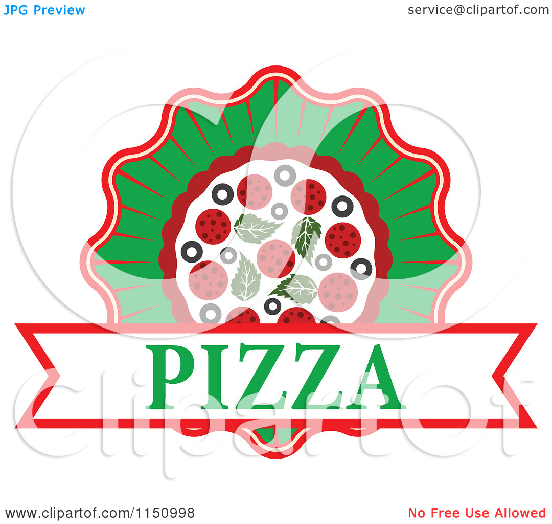 Pizza logo clipart jpg free download Clipart of a Pizza Logo - Royalty Free Vector Clipart by Vector ... jpg free download